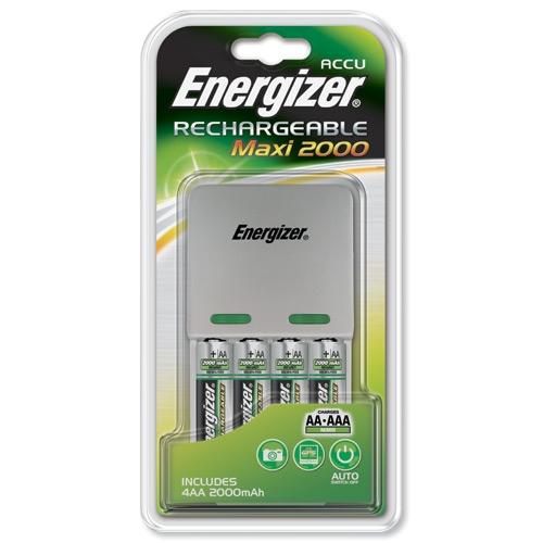 Incarcator Energizer cu 4 acumulatori 2000 mAH